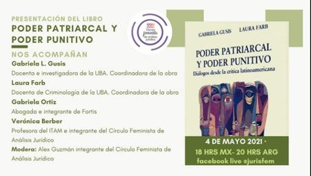 PRESENTACIÓN DEL LIBRO PODER PATRIARCAL Y PODER PUNITIVO