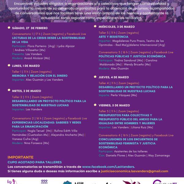 """Conversatorios """"Sostenibilidad Feminista y Justicia Económica"""""""